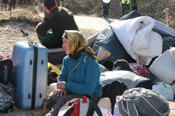 Kvinna bagage.Helenelund 20140313_2605